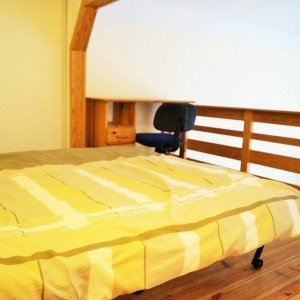 Mezzaine with double bed