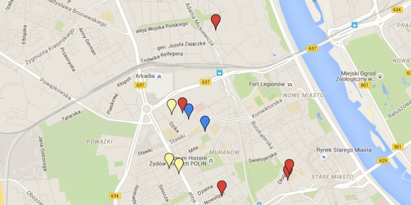 Selected flats for Erasmus students going to Kozminski University.